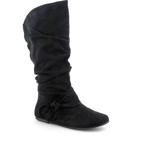 c96c01ddb35 Soda Want-S Women s Black Mid Calf Flat Boots