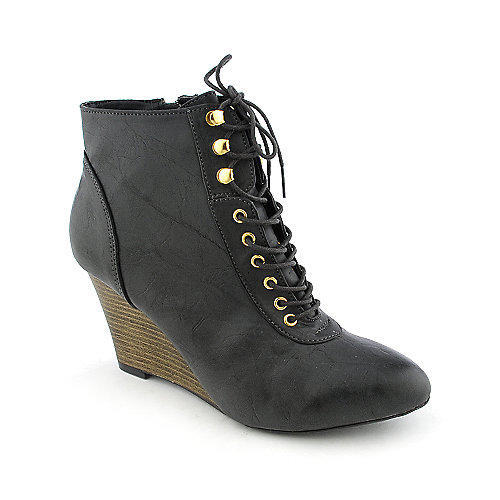 Qupid Ophelia-01 womens wedge ankle boot