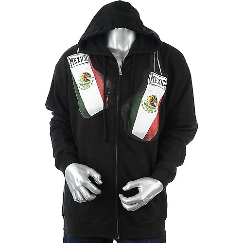 Urban Soul Mexico Gloves Hoodie mens sweater