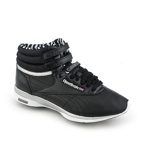 dd31e523f6f Reebok Women s EasyTone Freestyle Hi Black Athletic Walking Sneakers ...