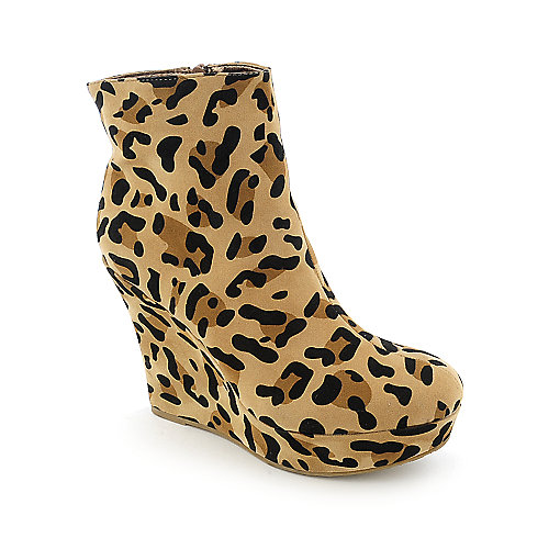 Bamboo Ceasar-01 womens ankle platform wedge boot