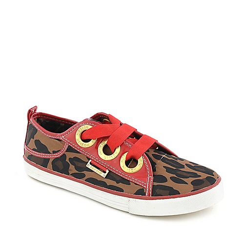Dereon Triplets Leopard womens casual shoe lace up sneaker