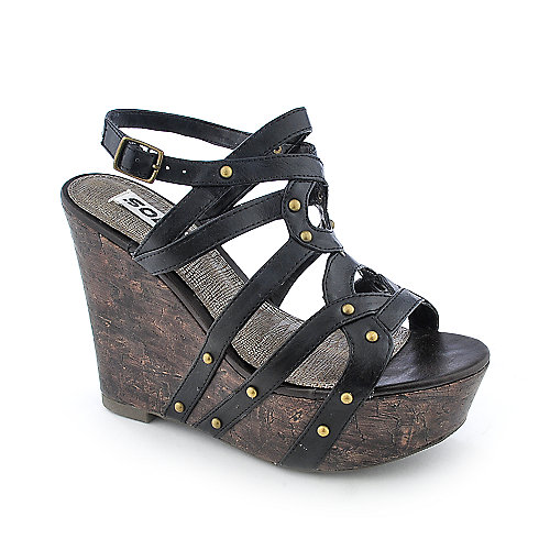 Soda Soil-S slingback platform wedge