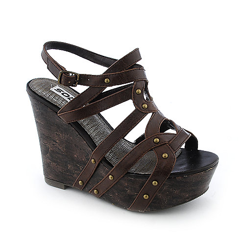 Soda Soil-S casual slingback platform wedge