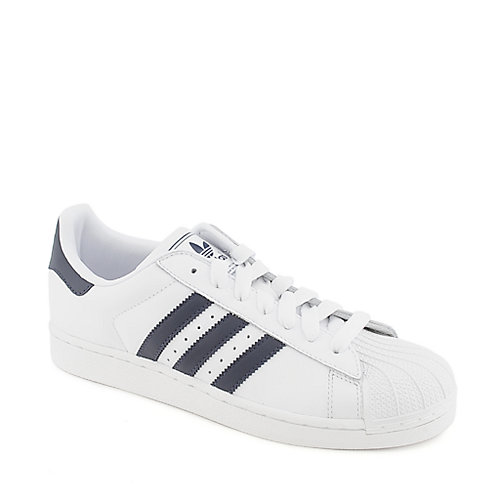 Adidas Superstar 2 white/navy athletic basketball sneaker
