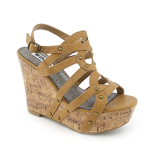 Soda Soil-S womens casual slingback wedge