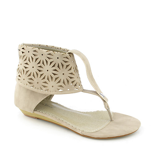 Nature Breeze Chris-01 womens thong wedge sandal