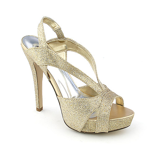 Shiekh Ruby-S womens dress evening slingback glitter high heel platform