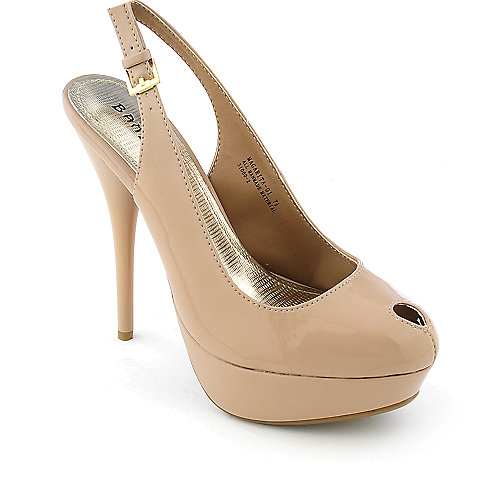 Bamboo Margarita-01 womens slingback platform high heel dress shoe