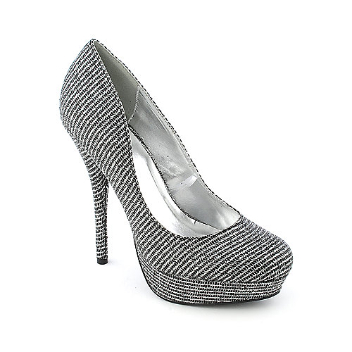 Shiekh Prom dress evening glitter platform pump high heel