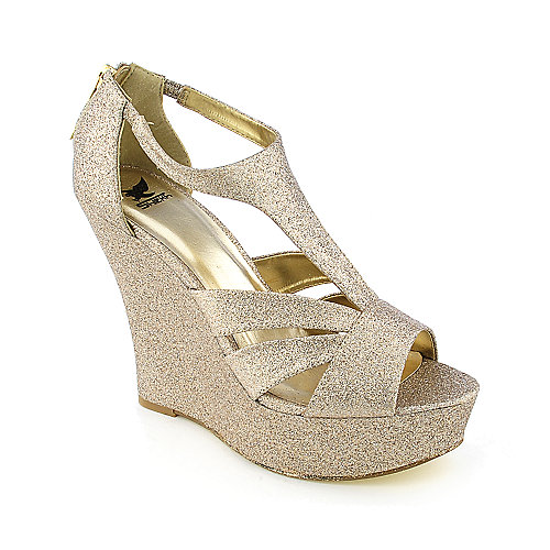 Shiekh Milly Womens dress glitter evening platform wedge heel