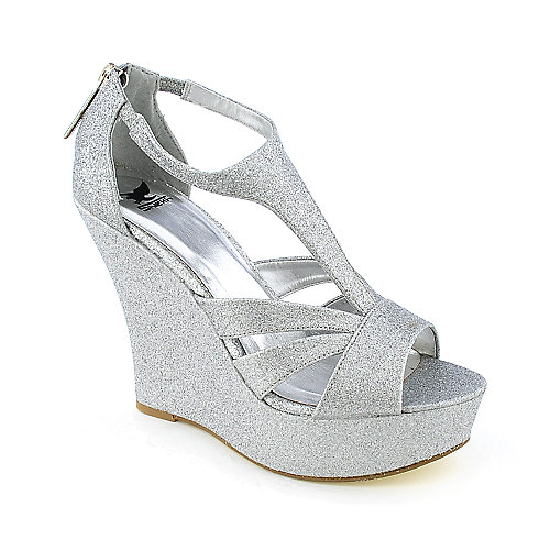 Shiekh Milly Womens dress evening platform wedge glitter heel