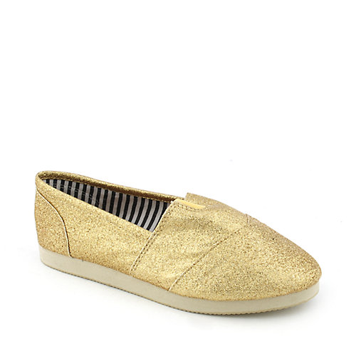 Shiekh Kids Object-IIGS gold glitter slip-on kids shoes