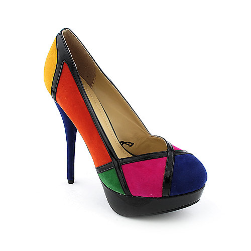 Shiekh Alexine womens color block platform high heel pump