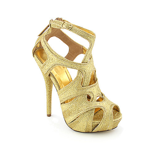 Shiekh Bailey womens dress evening glitter platform high heel