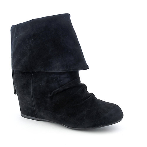 Sweet Seventeen Womens Tamara-01 black wedge ankle boot