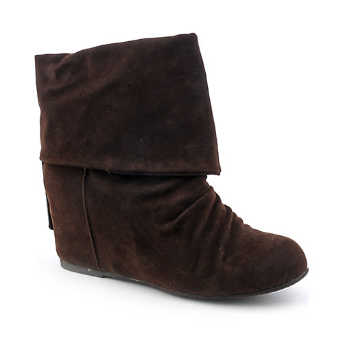 Sweet Seventeen Womens Tamara-01 brown wedge ankle boot