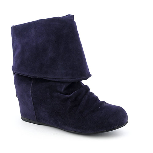 Sweet Seventeen Womens Tamara-01 purple wedge boot