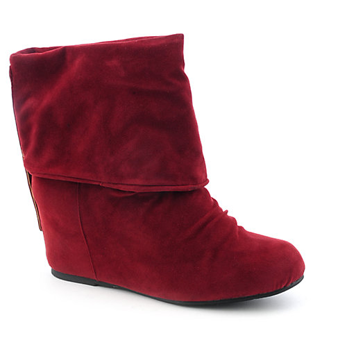 Sweet Seventeen Womens Tamara-01 red wedge ankle boot