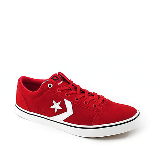 Converse Mens Badge Ox red casual lace up sneaker