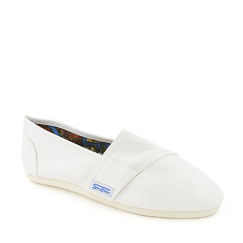 Shiekh Mysti-04A white flat casual slip on shoe