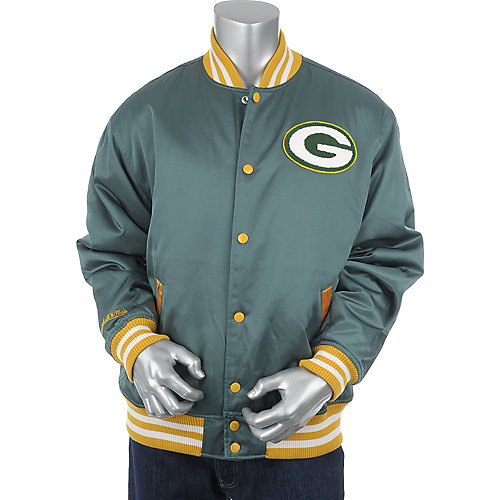 Mitchell & Ness Green Bay Packers Screen Pass Satin Jacket