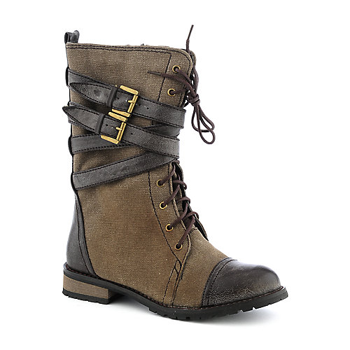 Shiekh Tina-09A womens brown canvas boot