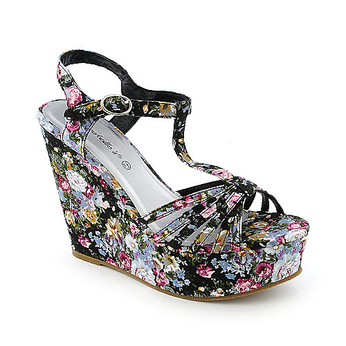 Breckelle's Rebeca-09 womens dress platform wedge