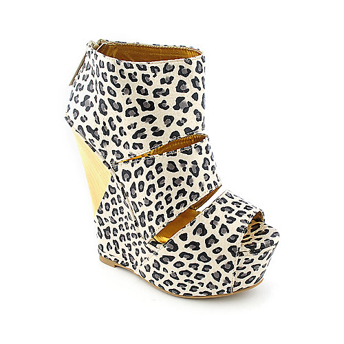 Shiekh Fantasik womens casual platform animal print wedge