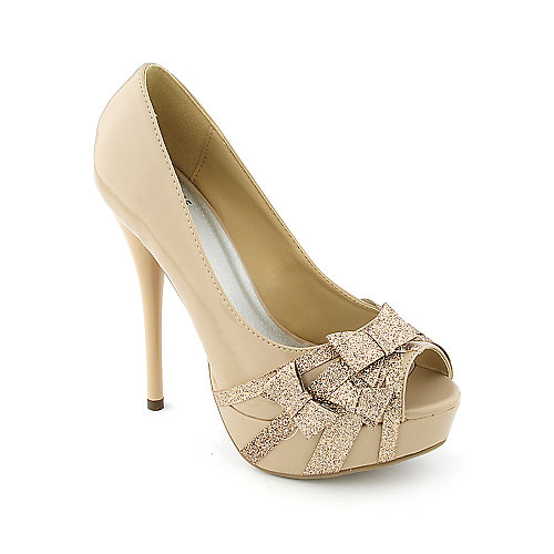 Shiekh Akey-S womens dress evening glitter platform high heel