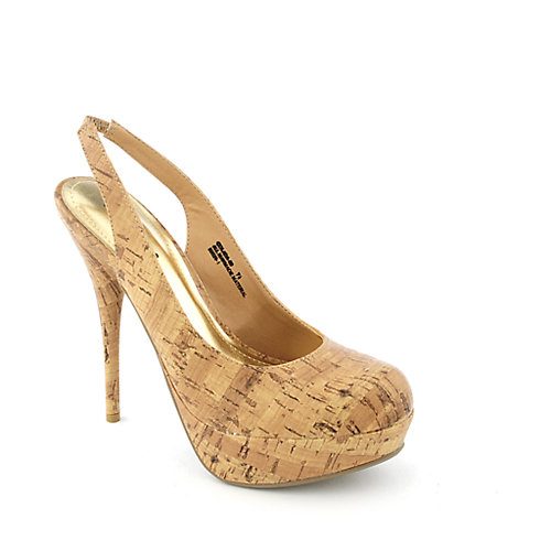 Bamboo Colada-20 womens dress slingback platform high heel