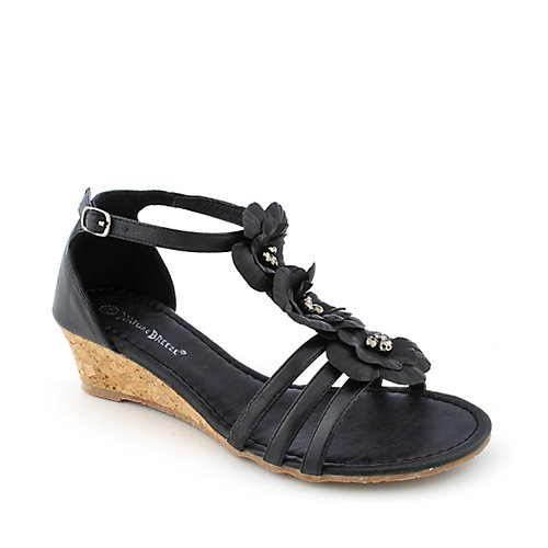 Nature Breeze Doris-01 womens t-strap wedge sandal