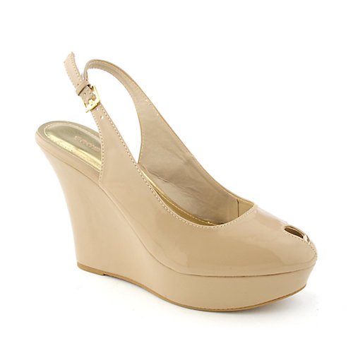 Bamboo Ceasar-38 womens dress platform slingback wedge