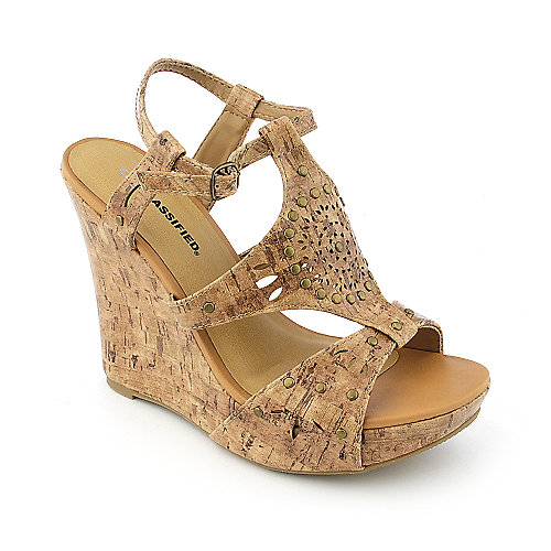Classified Rizzo-S womens casual platform slingback wedge