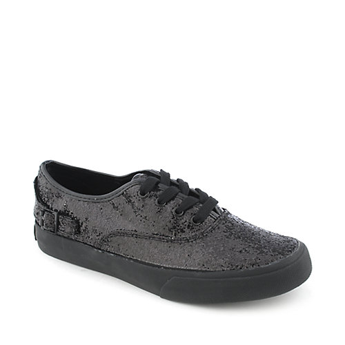 Shiekh A-XG0032 womens casual glitter lace-up sneaker