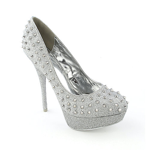 Shiekh Flora womens dress high heel platform glitter pump