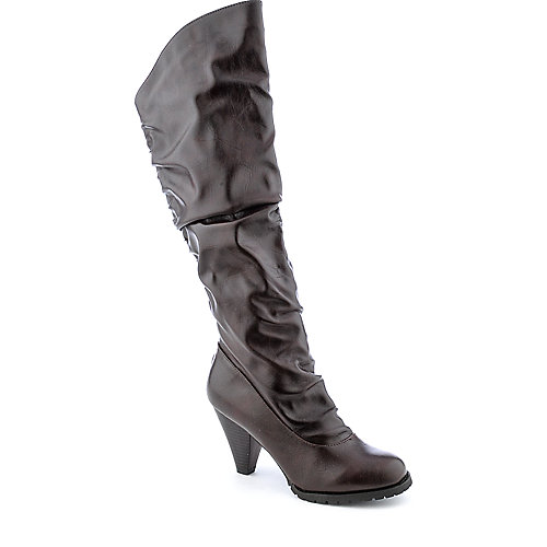Bamboo Verde-10DL womens high heel knee-high boot
