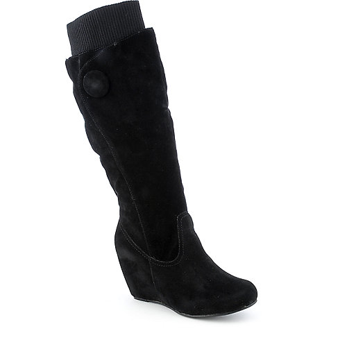 Bamboo Noel-04 womens knee-high wedge boot