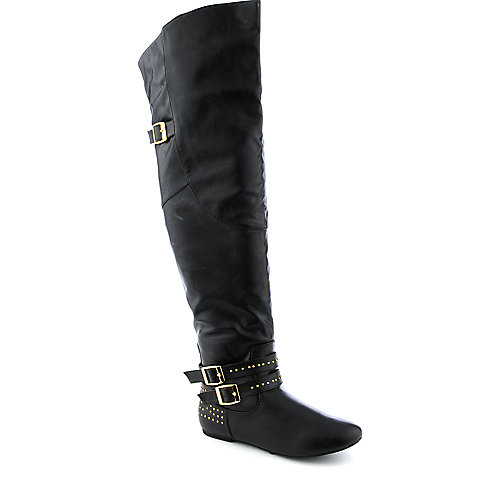 Bamboo Sunkiss-02 womens black studded boot