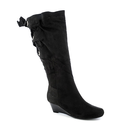 Bamboo Trisha-01 womens knee-high wedge boot