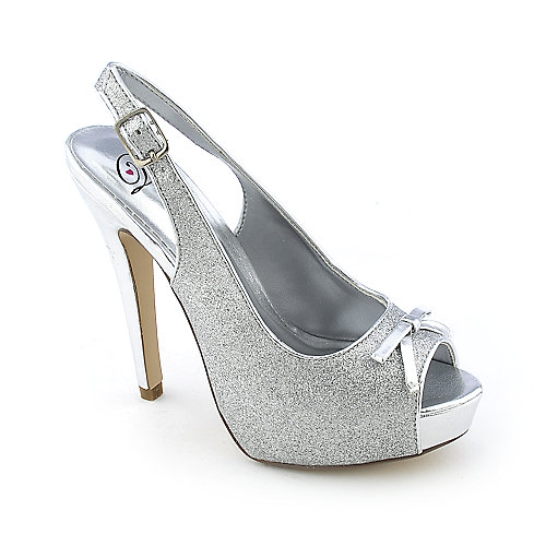 My Delicious Masako-S womens dress glitter high heel evening slingback platform