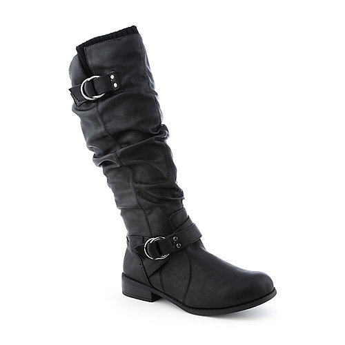 Bamboo Betsey-24 womens knee-high low heel boot