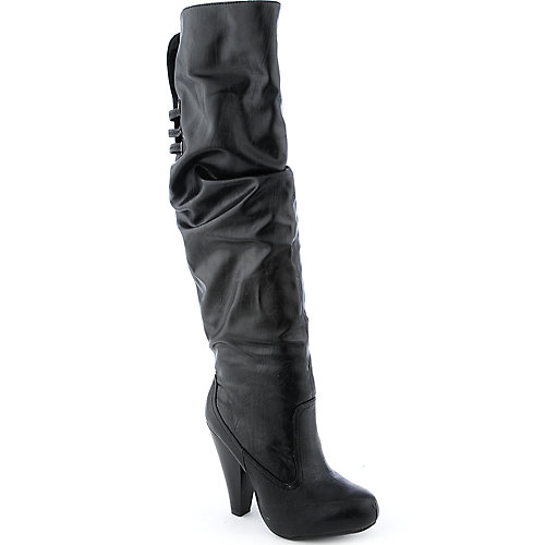Bamboo Brenda-29 womens thigh-high high heel platform boot