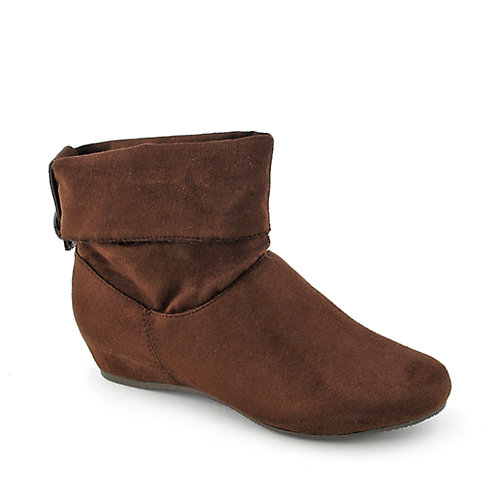 Bamboo Capella-48 womens wedge ankle boot