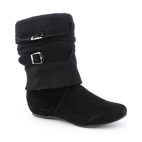 Bamboo Capella-49 womens flat knit mid-calf boot