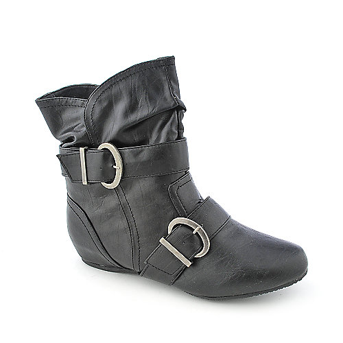 Bamboo Harmony-09 womens wedge ankle boot