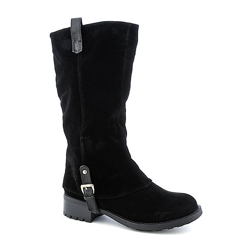 Bamboo Hazelnut-28 womens mid-calf low heel western/riding boot
