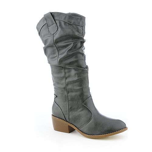 Bamboo Whitney-05 womens western low heel mid-calf boot