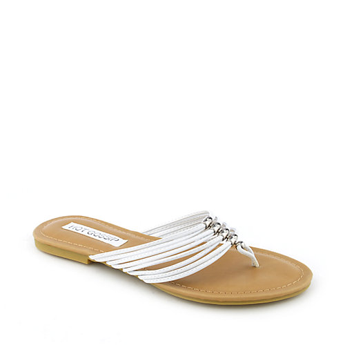 Hot Gossip Audra-14 flat strappy jeweled thong flip flop sandal