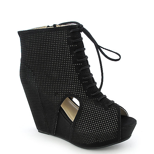 Bumper Zena-21 womens platform wedge ankle boot